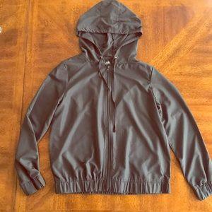 Cascade graphite gray hoodie windbreaker jacket M